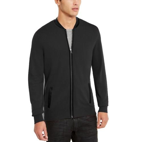 INC International Concepts Men's Zip-Front Cardigan Black Size Extra Large