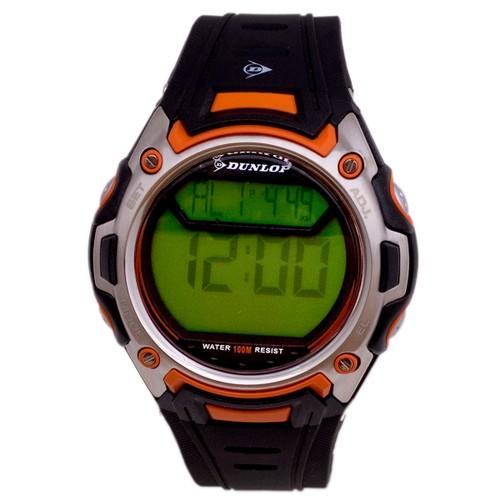 Dunlop Men´s Voyager DUN44G08 Silver/Orange Plastic Mineral Quartz Watch