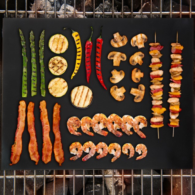 "Classic Cuisine Non-Stick Reusable BBQ Grill Mat-Set of 2 (16"" x 13"")"