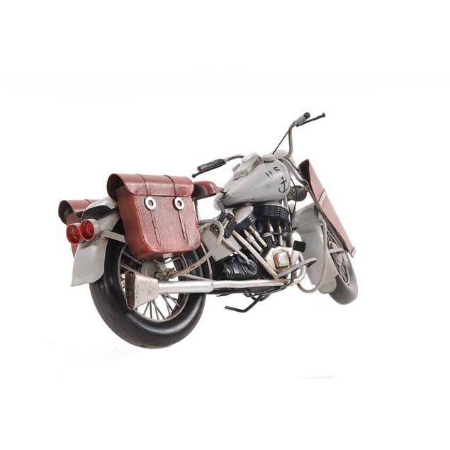 Old Modern Handicrafts Tabletop Decorative 1945 Grey Motorcycle 1:12