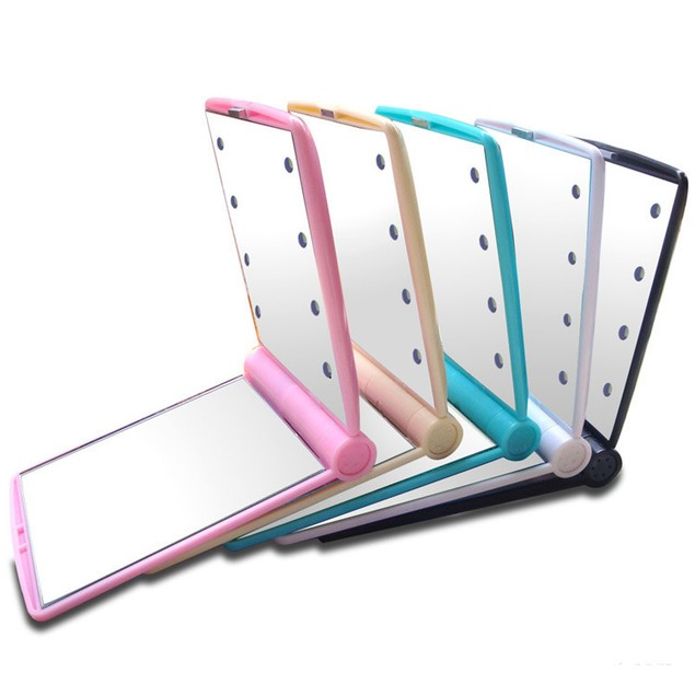 Fashion Women Makeup Mirror 8 LED Lights Lamps