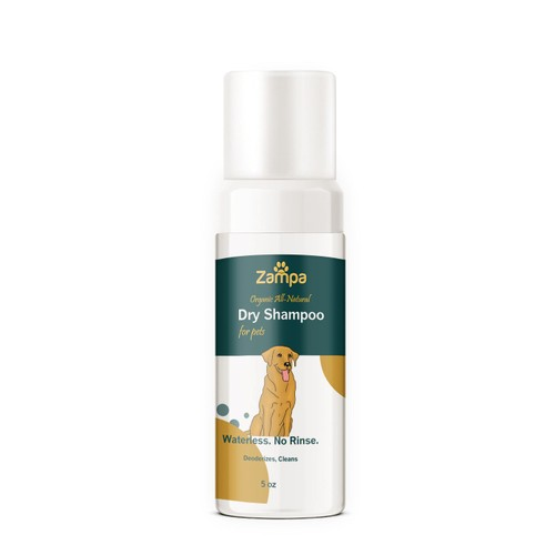 Waterless Foam Dry Shampoo For Pets 100% All Natural Organic