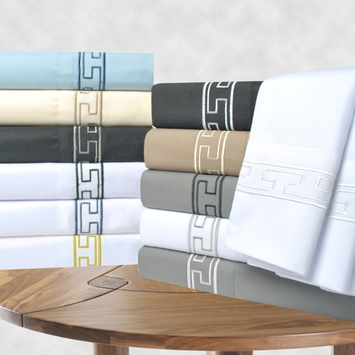 Embroidered REGAL Sheet Set, Wrinkle Free Microfiber, GIFT BOX