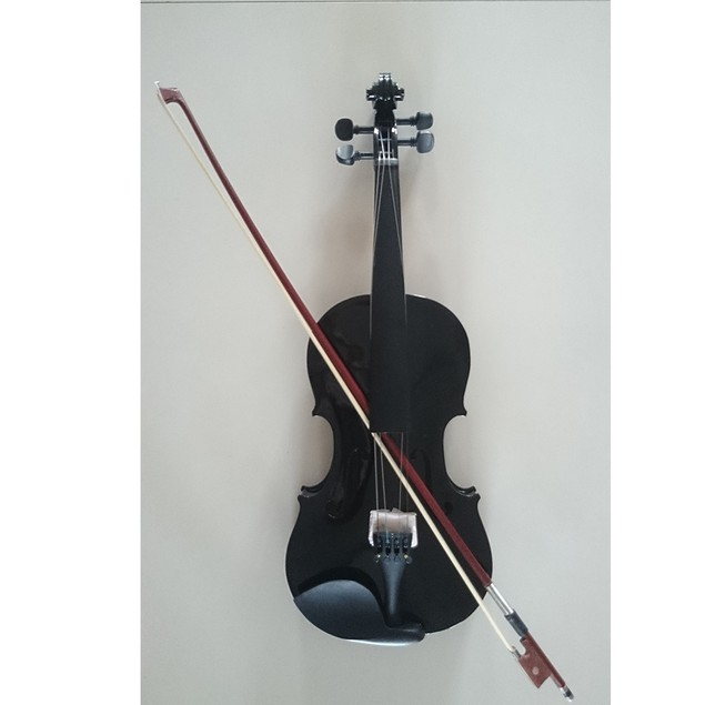 Student Acoustic Violin Full 1/4 Maple Spruce with Case Bow Rosin Black