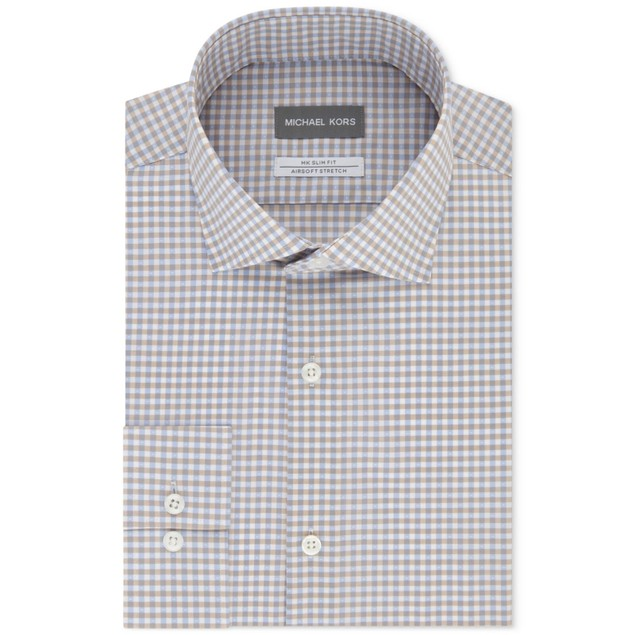 Michael Kors Airsoft Stretch Performance Check Dress Shirt 16x34-35