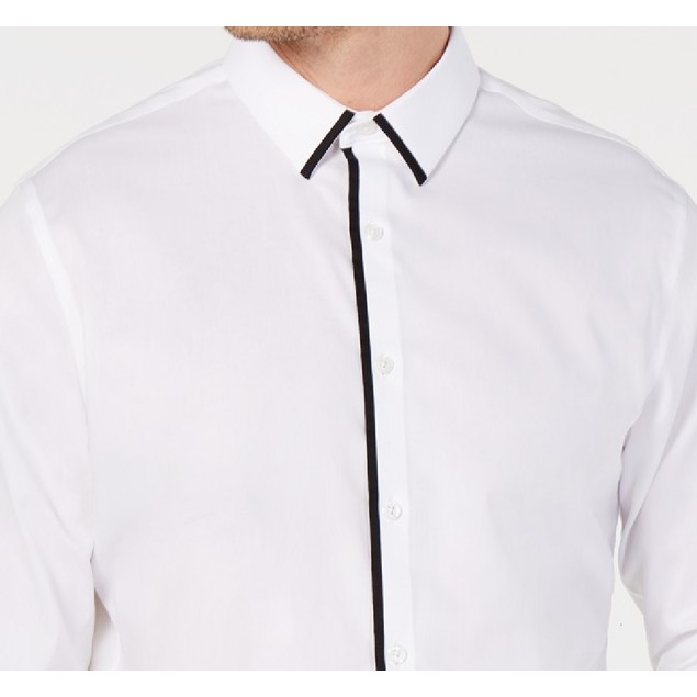 INC International Concepts Men's Victor Shirt White Size 2 Extra Large