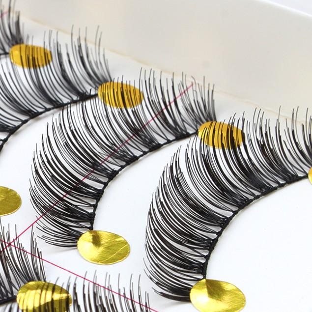 Handmade Natural Fashion Long and Soft Black Makeup Fake Eyelashes