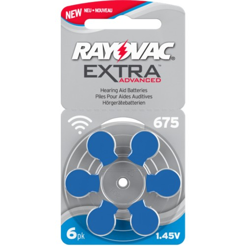 Rayovac Size 675 MF Zinc Air Hearing Aid Batteries (60 pack)
