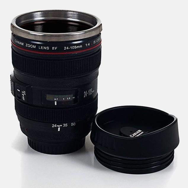 Camera Lens Coffee Mug with Lid by Whetstone