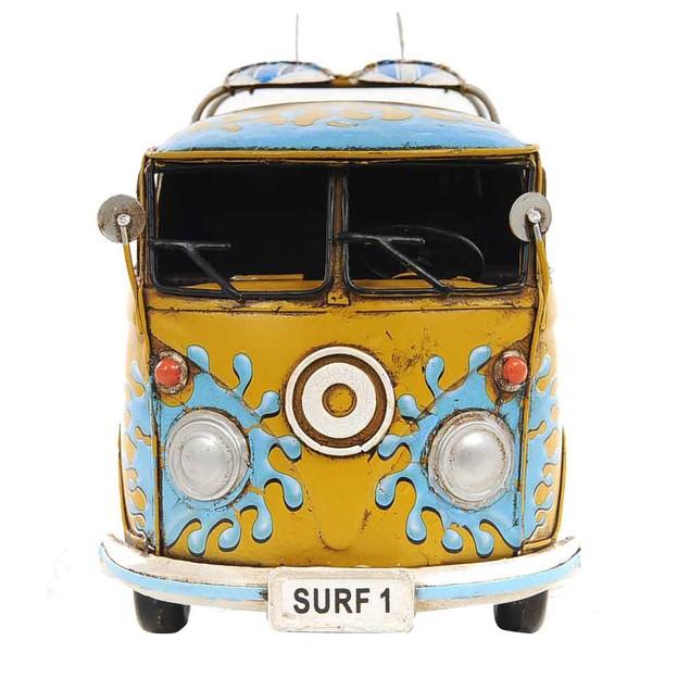 Old Modern Handicrafts Tabletop Decorative 1967 Volkswagen Deluxe Bus 1:18
