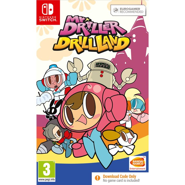 Mr. DRILLER DrillLand Nintendo Switch Game [Code In A Box]