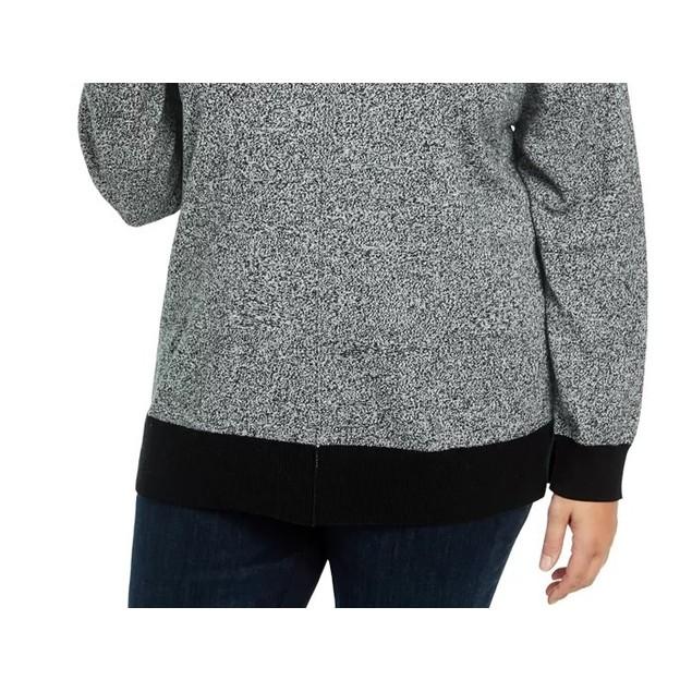 Karen Scott Women's Plus Size Mock Neck Cotton Sweater Charcoal Size 1X