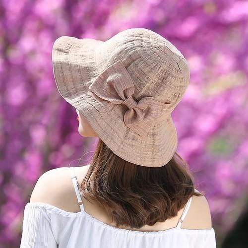 Summer Bowknot Big Eaves Sunshade Fisherman Hat Ladies