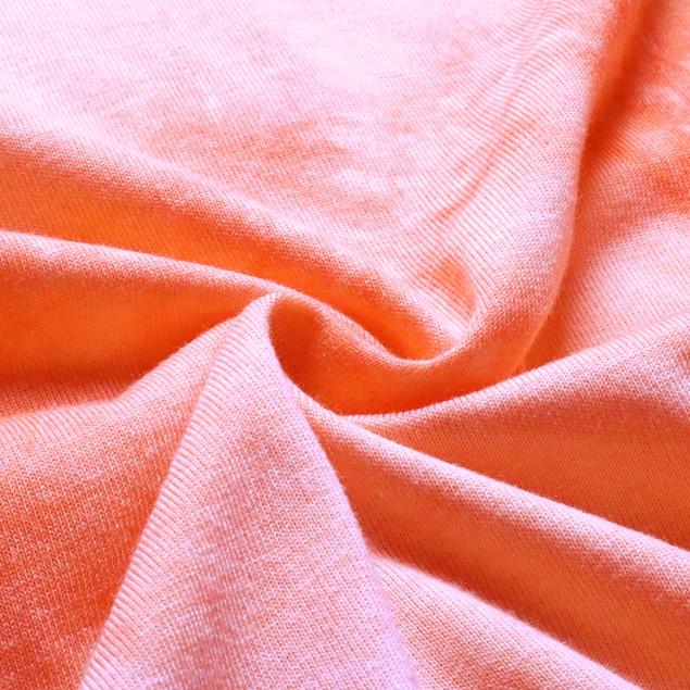 Woman's Casual Tie Dye Short Sleeve Crop Top T-Shirt Round Neck Tee Shirt