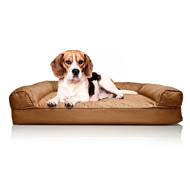 FurHaven Quilted Convolute Orthopedic Sofa Pet Bed