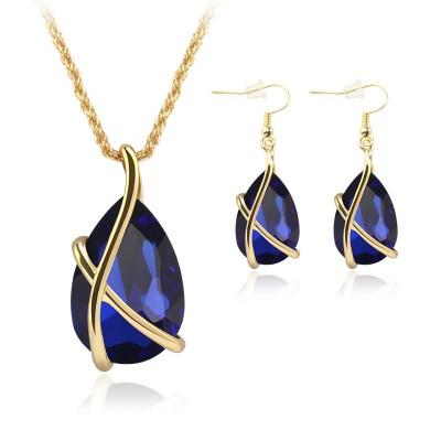 X Drop Necklace & Earring Set