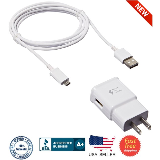 New OEM Samsung fast Adaptive Wall Charger for Galaxy S7 S6 Note 5 4 Edge