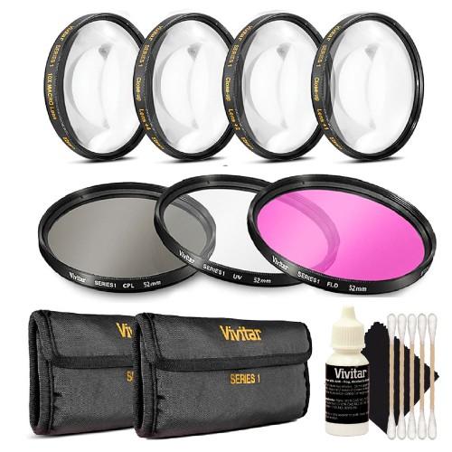 Vivitar 72mm Professional Digital Filter Kit + 72mm Macro Kit + 3pc Cleaning Kit