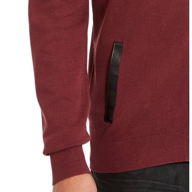 INC International Concepts Men's Zip-Front Cardigan Wine Size Medium