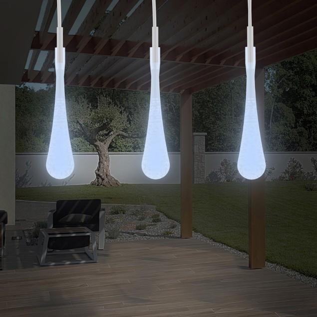 String Lights  Set of 2 30 Bulb Solar Power  LED Decor Tear Drop Lighting