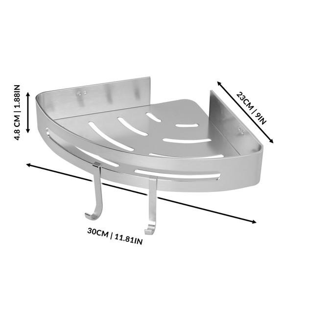 Adhesive Corner Shower Caddy | MandW 1 Tier