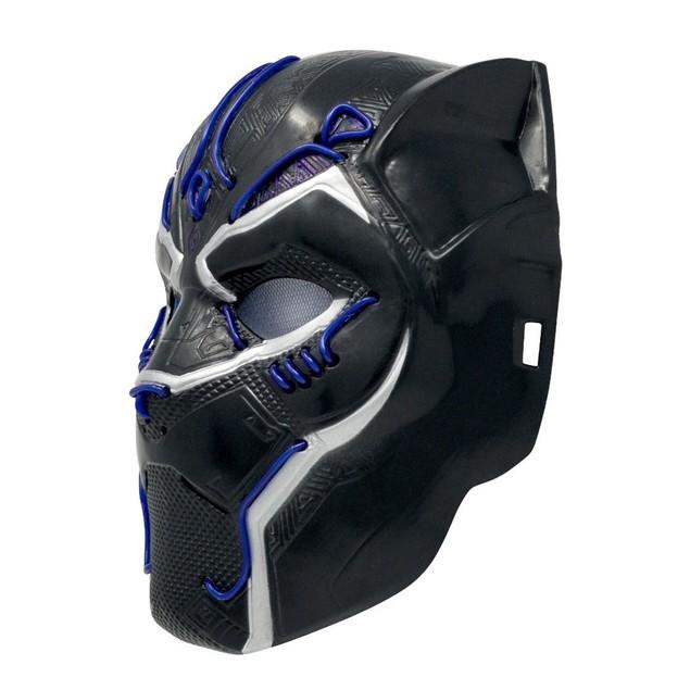 Kids Battle Light up Black Panther Mask