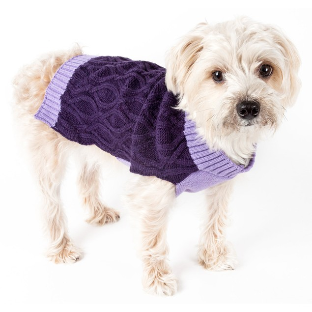 Oval Weaved Heavy Knitted Fashion Designer Dog Sweater
