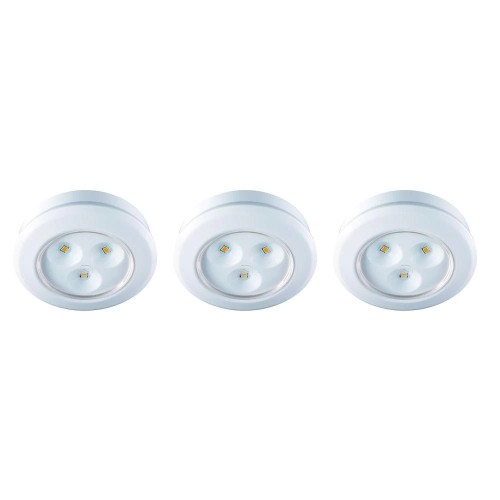 """Commercial Electric Under Cabinet 2.99"""" LED Battery Operated Puck Light,"""