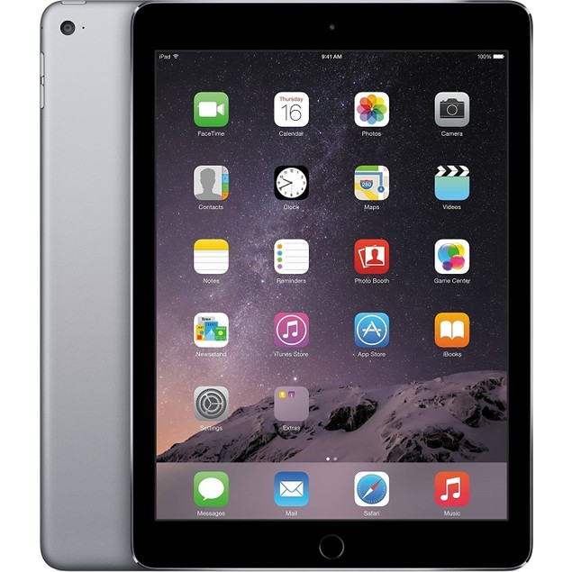 "Apple iPad Air 2 MGLW2LL/A 128GB 9.7"" WiFi Only,Space Gray(Refurbished)"