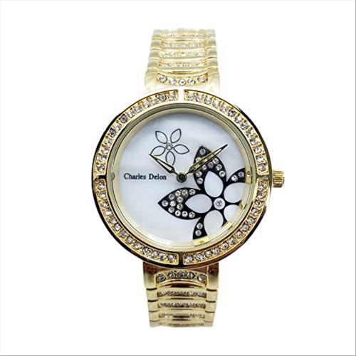 Charles Delon Women's Watches 5757 LGMW Gold/Gold Stainless Steel Quartz Round