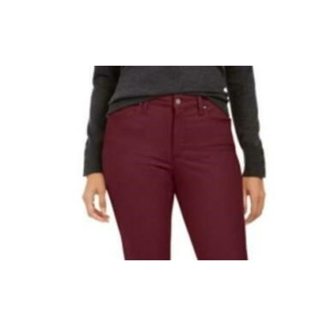Charter Club Women's Lexington Straight-Leg Jeans Red Size 4