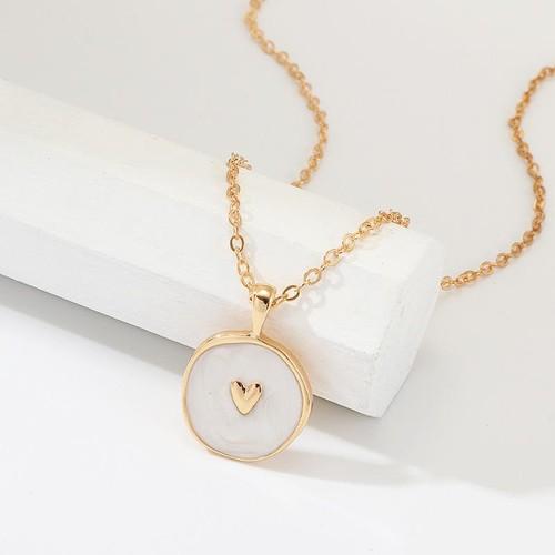 Enamel Heart Gold Necklace