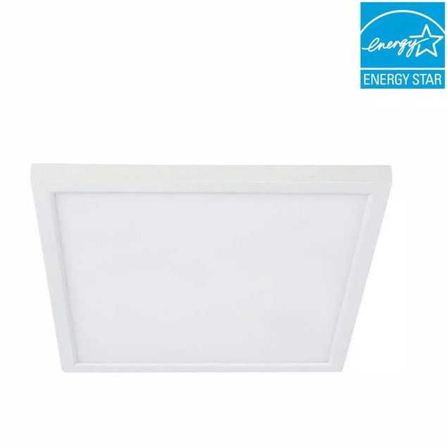 """Feit Electric 7.5"""" Dimmable LED Ceiling Flush Mount Square Light, White"""