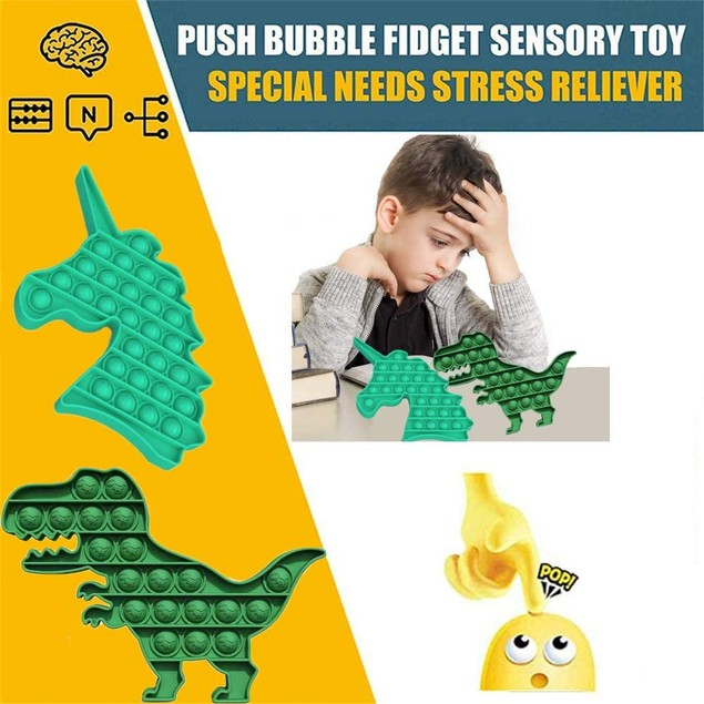 2-Pack Push Pop Pop Bubble Sensory Fidget Toy-Extrusion Bubble Fidget Sensory Toys