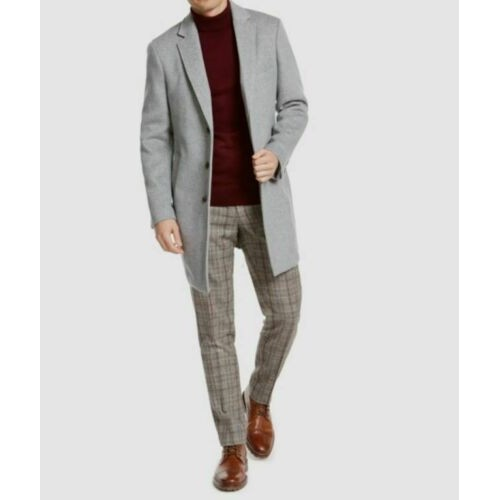 Tasso Elba Men's Bruno Topcoat Gray Size Extra Large