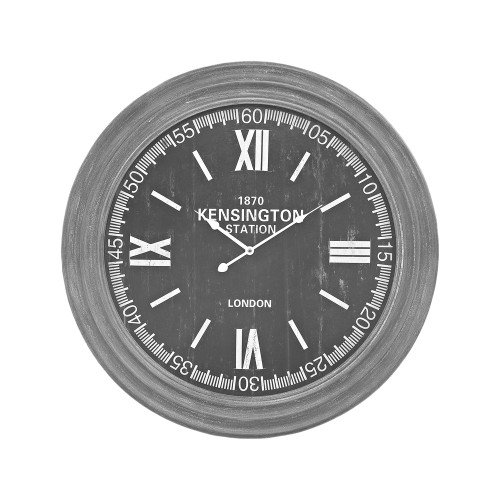 Sterling London Wall Clock In Preda Aged Grey