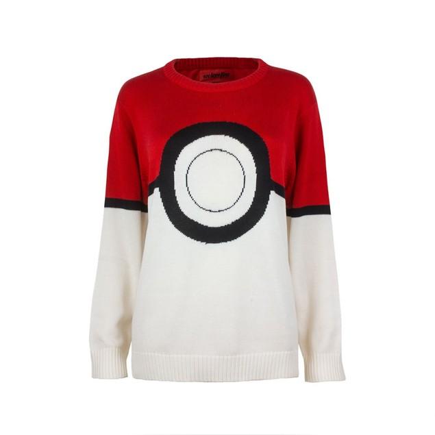 Pokemon Pokeball Womens Knitted Sweater