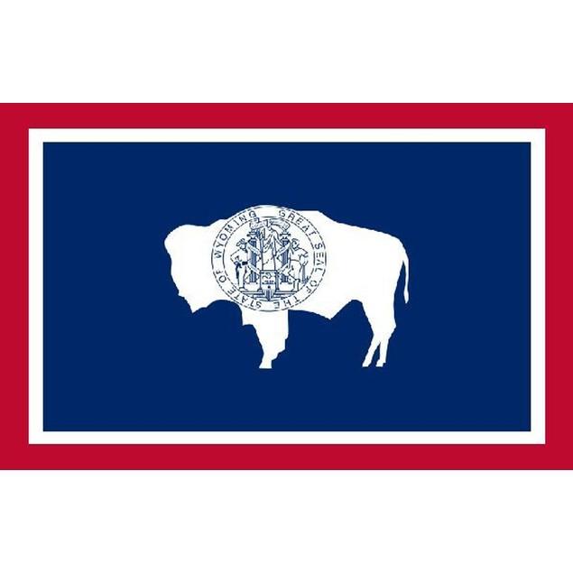 Wyoming 3'x5' Flag USA United States Of America Territory State Nylon