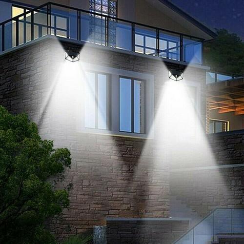 100 LED Solar PIR Motion Sensor Wall Light