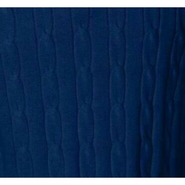 Club Room Men's Pima Cable Quarter-Zip Sweater Blue Size X-Large