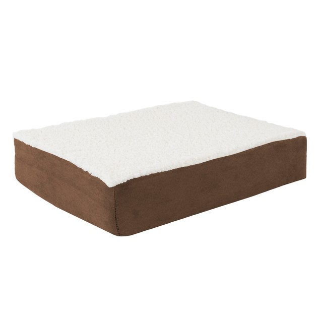 Orthopedic Sherpa Top Pet Bed