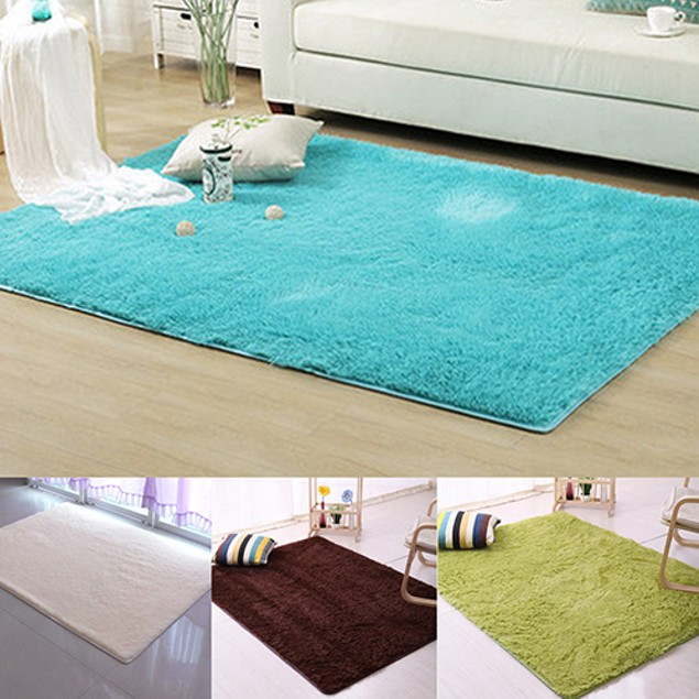 Modern Candy Color Soft Anti-Skid Carpet Flokati Shaggy Rug