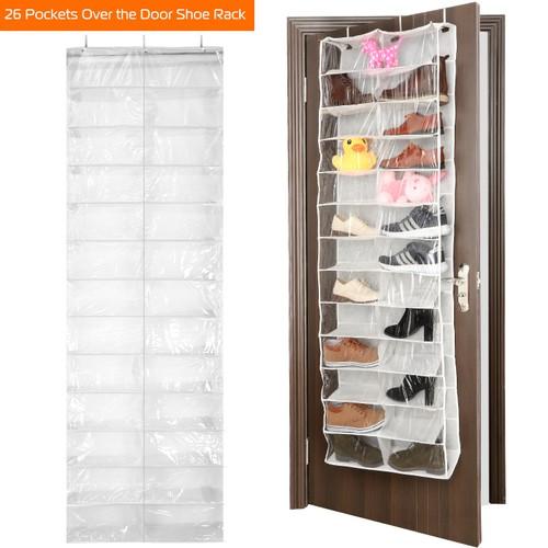 26 Pockets Over the Door Shoe Rack Hanging Shoe Organizer Shelves