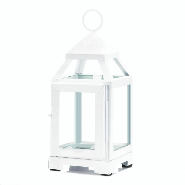 Gallery of Light White Mini Contemporary Lantern