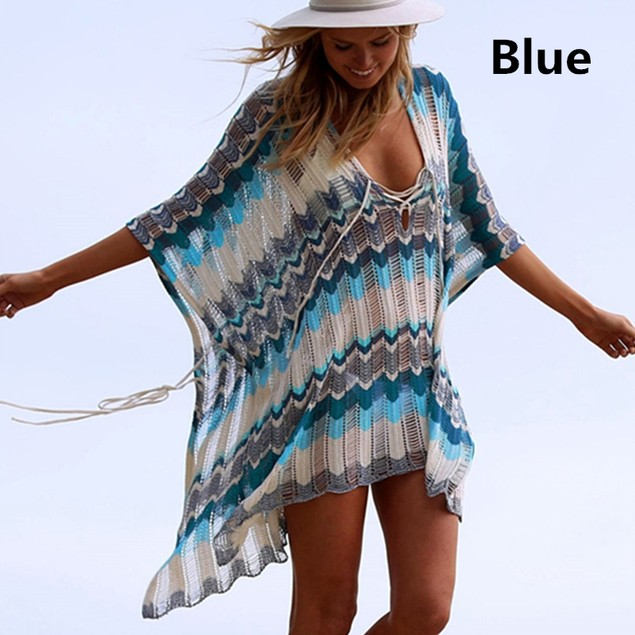 Hollow Knitted Beach Blouse Sun Protection Suit