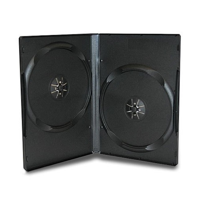 Double CD DVD Blu-ray Jewel storage Replacement Case 0.55 in 10 Pack