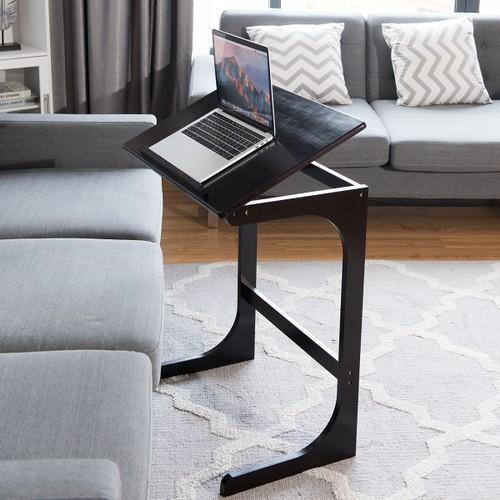 Adjustable C-Shape Couch End Table Laptop Desk W/Tilt