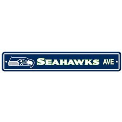 """Seattle Seahawks Ave Street Sign 4""""x24"""""""