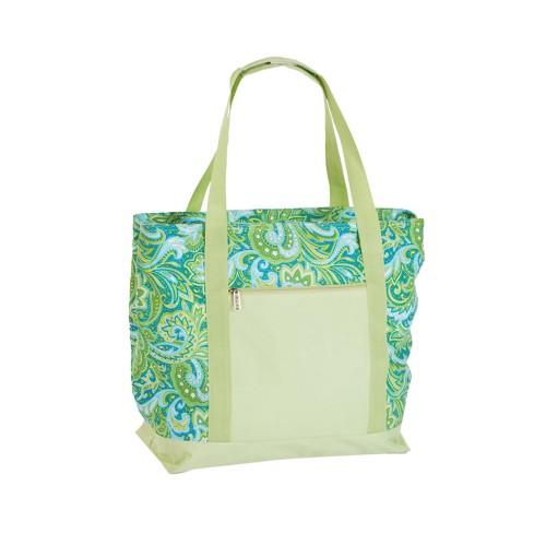 Picnic Plus Lido 2 In 1 Cooler Bag Green Paisley