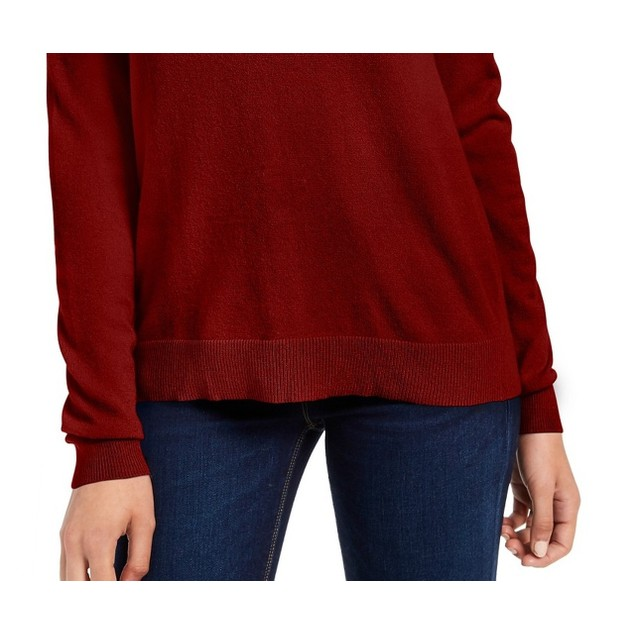 Planet Gold Juniors' Crewneck Sweater Red Size Small